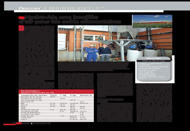 Dossier Porc Magazine, Octobre 2014: Alimentation liquide en PS