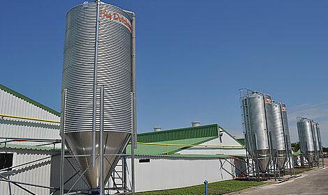 Tous les bâtiments sont équipés de matériel d'élevage et de systèmes d'alimentation Big Dutchman.