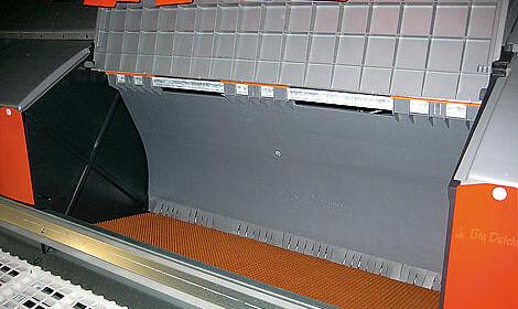 L'intérieur du pondoir « Relax » pour l'élevage de reproducteurs chair