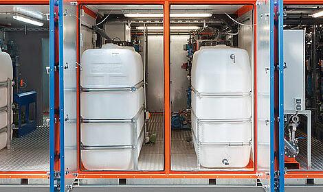 Vue sur MemFis, le système de filtration à membrane