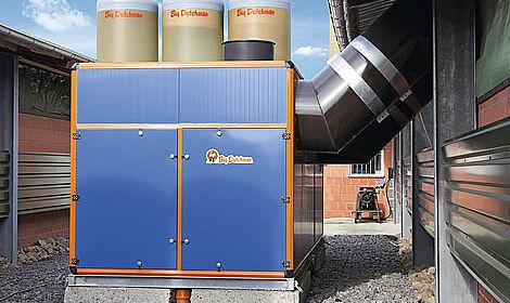 L'échangeur de chaleur Earny diminue les coûts de chauffage et nettoie en même temps l'air extrait du poulailler