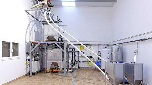 Salle de préparation des aliments avec le système d'alimentation soupe HydroAir