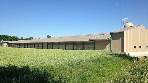 Aspect extérieur – bâtiment pour l'élevage plein air