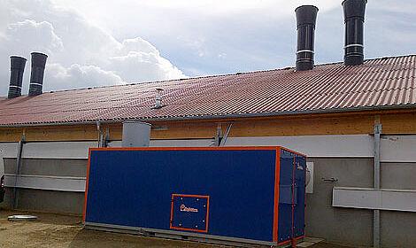 L'échangeur thermique Earny pour l'élevage de poulets de chair