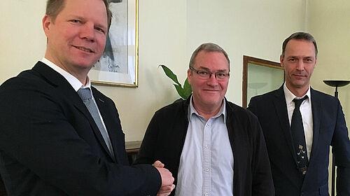 Ulf Meyer, Jean-Luc Le Guénic et Frank Moormann