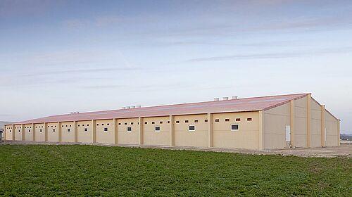 Nouveau bâtiment pour l'élevage de porcs
