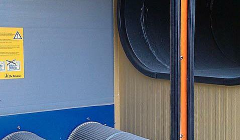 Vue sur l'unité de filtre du laveur d'air